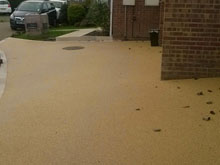 Resin Bound Yellow Sunny Gravel